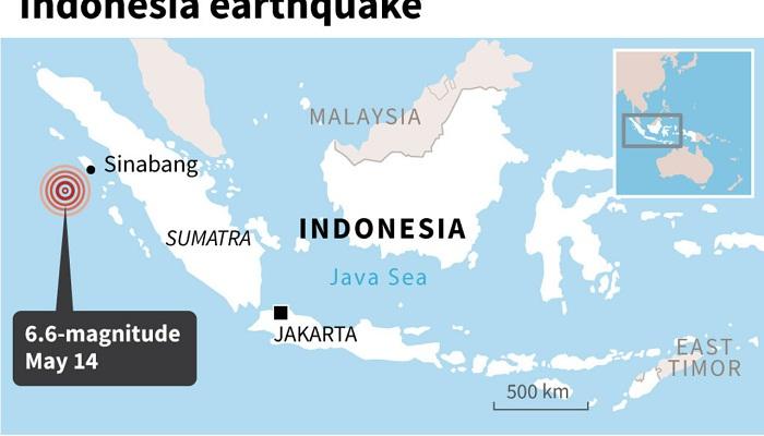 6.6 magnitude quake hits off Indonesia's Sumatra: USGS