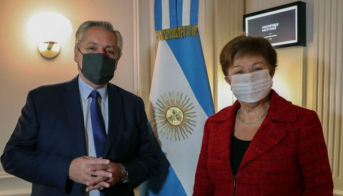 Argentine president holds 'positive' talks with IMF chief