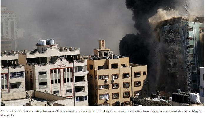 World will know less about what's happening in Gaza: AP president says after its office hit by Israel