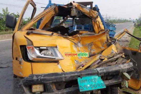 3 of a family killed in Mymensingh road crash