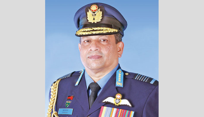 Air chief departs for USA