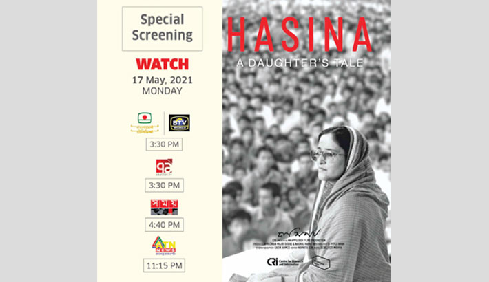 'Hasina: A Daughter's Tale' to be aired on TV channels today