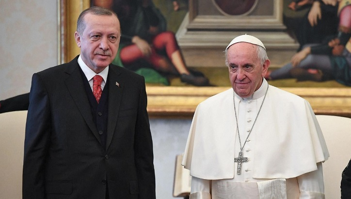 Erdogan urges pope to help end Israel's 'massacre'