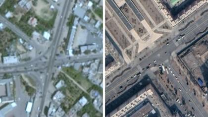 Why is Gaza blurry on Google Maps?