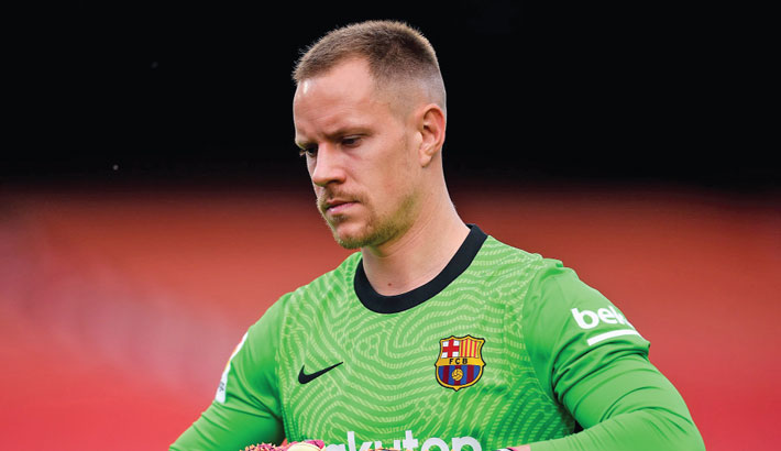 Stegen ruled out of Euros with knee problem