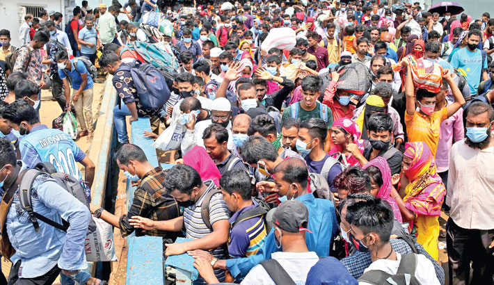 Ferry terminals see huge crowd