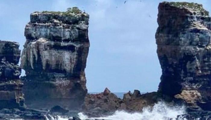 Galapagos Islands: Erosion fells Darwin's Arch