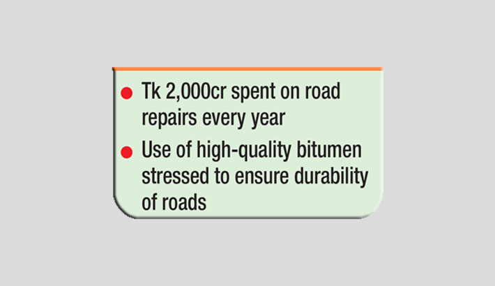 Road repairs drain out huge public money