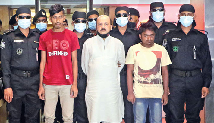 Arresting them for their alleged involvement in the gruesome murder of a businessman
