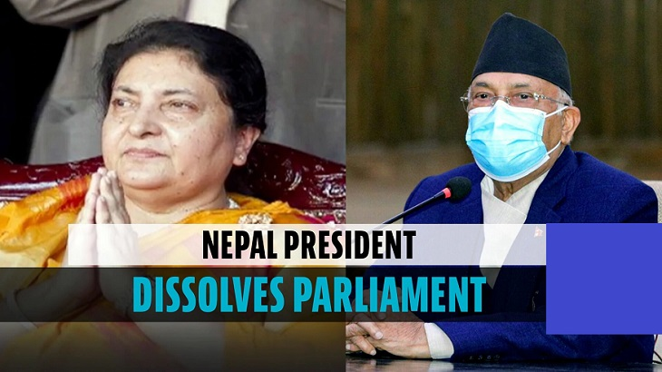 Nepal president dissolves Parliament; elections in November