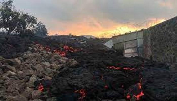 DR Congo volcano lava flow halts in suburbs of Goma: AFP correspondent