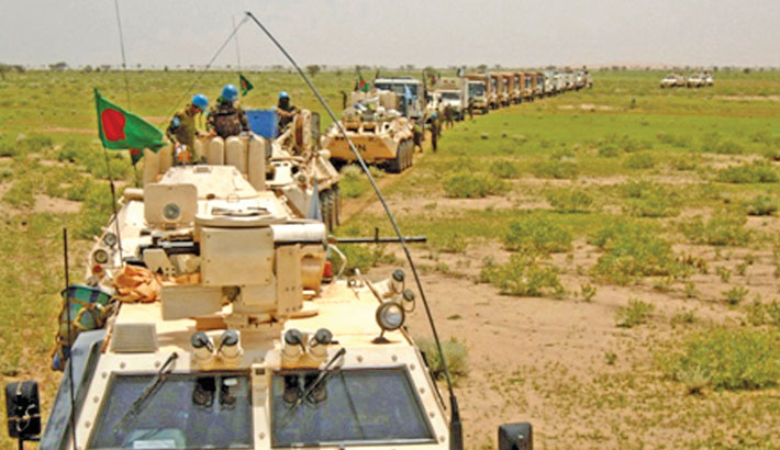 The UN peacekeeping mission conducted drives against armed miscreants