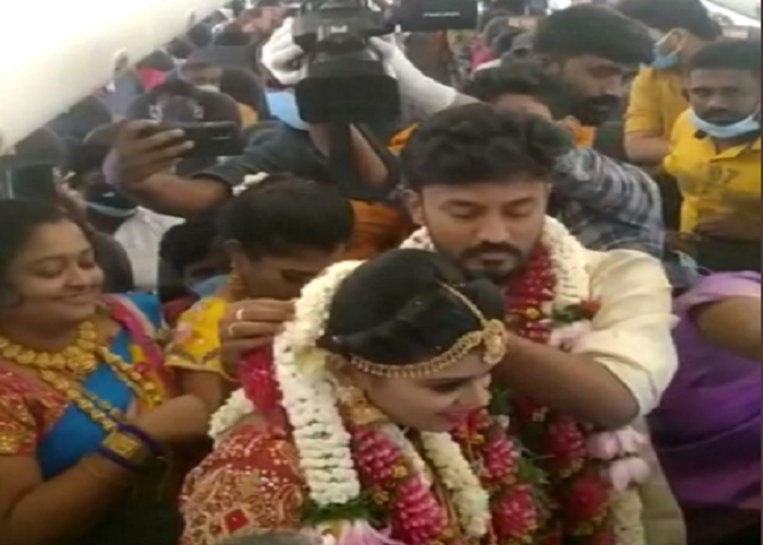 SpiceJet crew derostered after viral video of mid-air wedding
