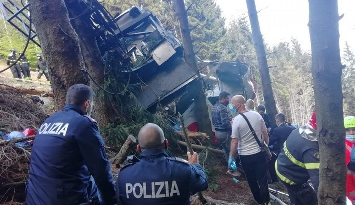 14 dead after accident as cable car fall in Italy