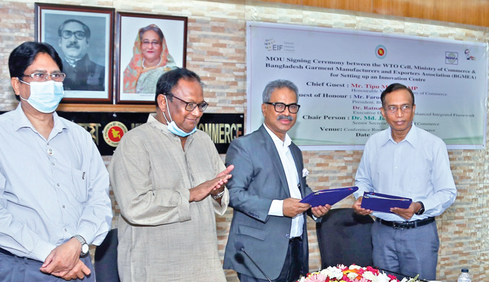 BGMEA, commerce ministry sign deal to launch centre for innovation