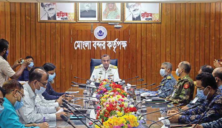 Chairman of Mongla Port Authority at a preparatory meeting