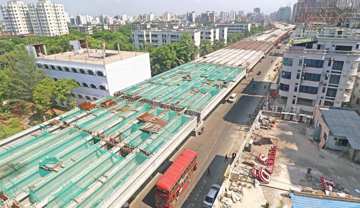 Construction work progressing fast amid the coronavirus pandemic