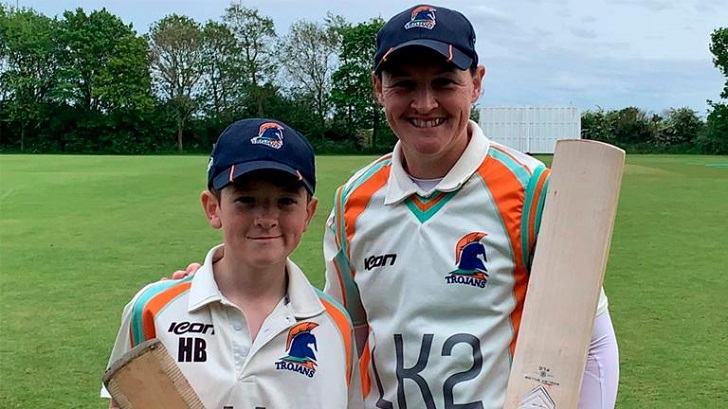 Former England cricketer proud of mother and son century stand