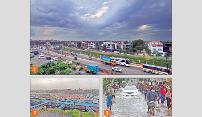 Low-lying areas in Ctg waterlogged
