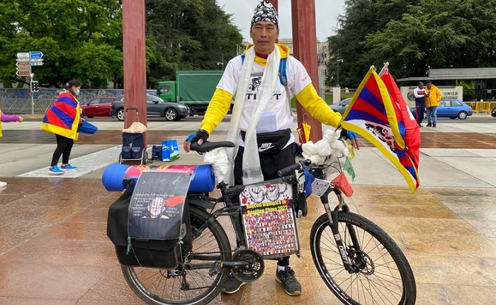 Swiss Tibetan's 1000-km solo rally concludes with an appeal to UN