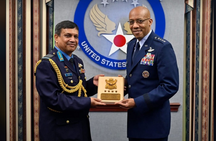 Bangladesh Air Force chief returns home from USA