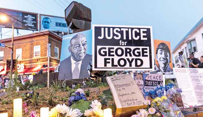 Family urges police reform on anniv of George Floyd murder