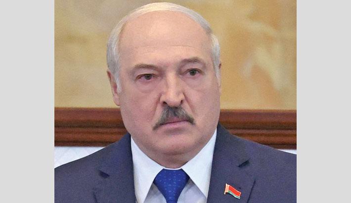 Belarus leader accuses West of waging 'hybrid war'
