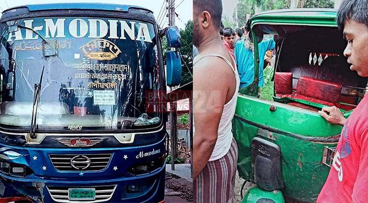 2 killed as bus rams auto-rickshaw in Gaibandha