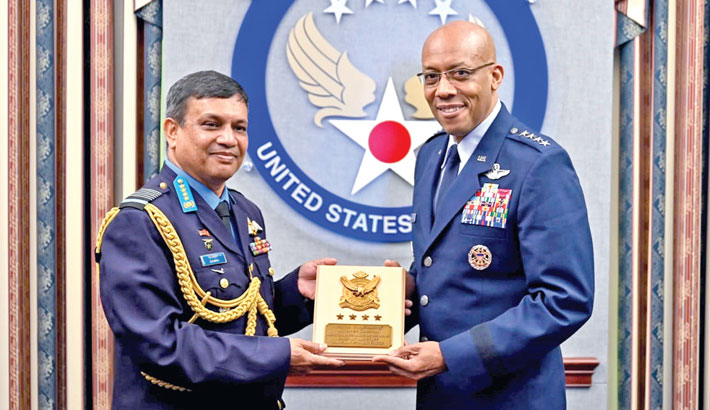 BAF chief returns from USA