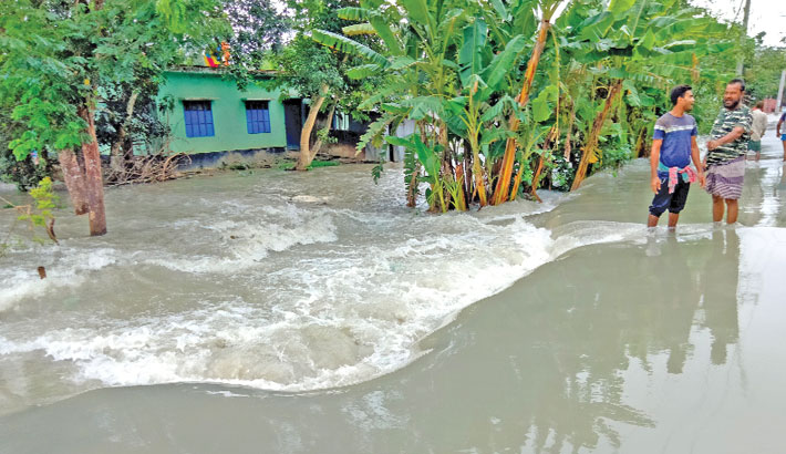 All upazilas of Patuakhali district have been inundated by tidal surge after cyclone Yaas breached