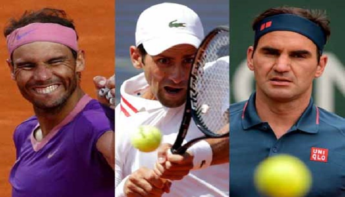Nadal, Djokovic and Federer in same half of French Open draw