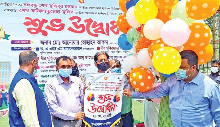 Inaugurates Bangabandhu Sheikh Mujibur Rahman National Gold Cup Football Tournament