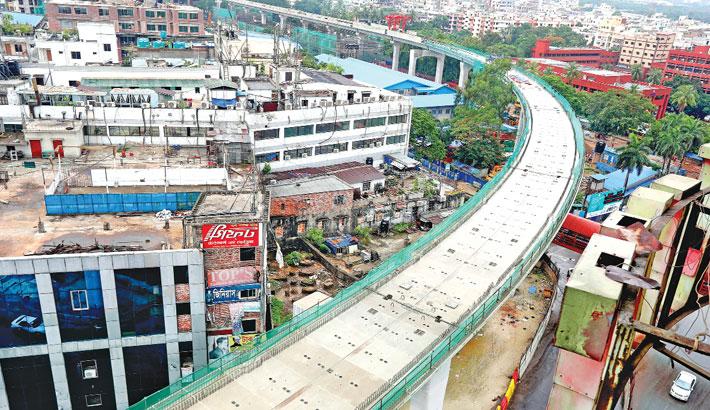Work on the Dhaka Metro Rail project is progressing fast amid the coronavirus pandemic