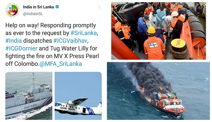 MV X Press Pearl: Relief operations by India