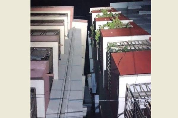 2 buildings tilt in Sylhet after quake