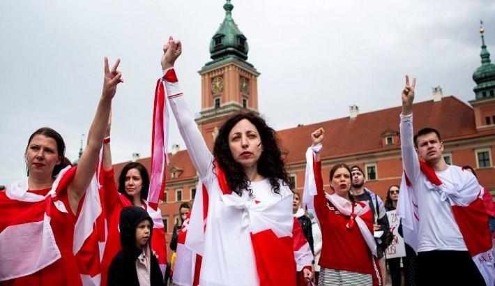 Hundreds join global Belarus solidarity protests