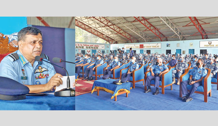 BAF chief addresses contingent members for CAR
