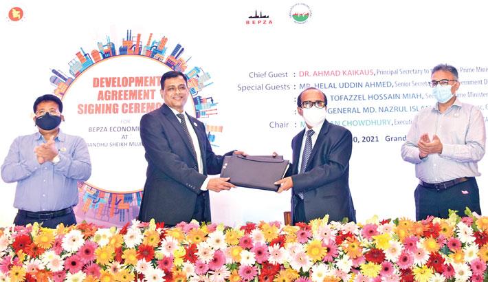 Deal signed to build economic zone in Bangabandhu Shilpa Nagar