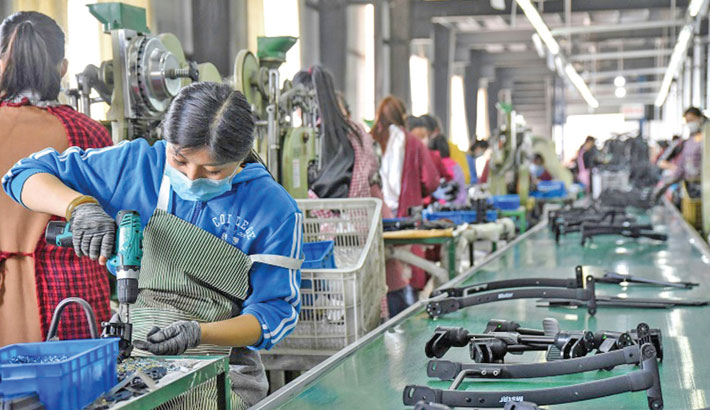 China factory activity nudges down