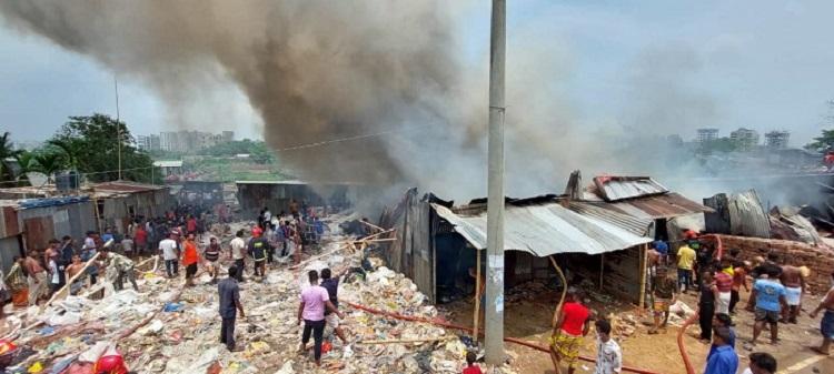 Fire at a slum in capital