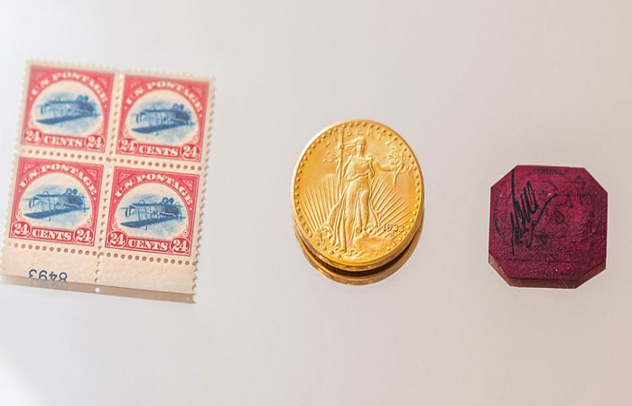 Rare stamps and a US coin could fetch $37 million at auction