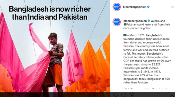 Bangladesh now richer than India, Pakistan