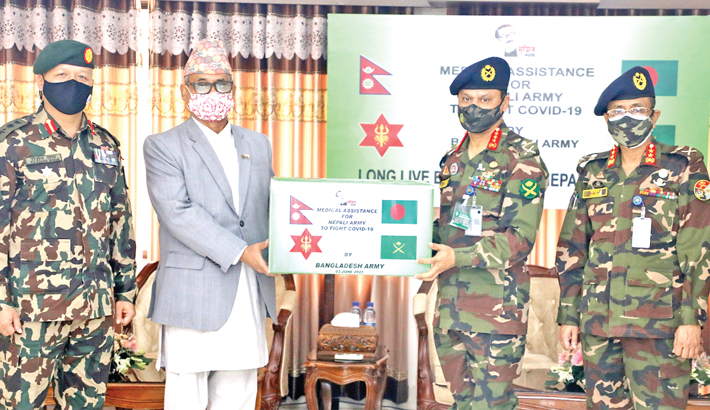 Bangladesh Army hands over medical and safety equipment to Nepalese Ambassador