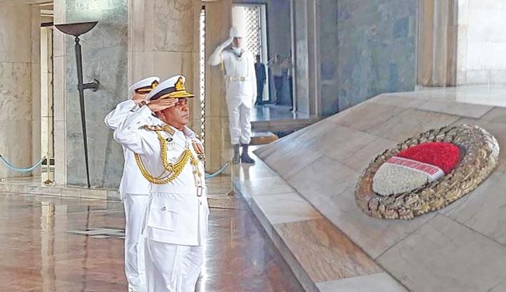 Navy chief returns home
