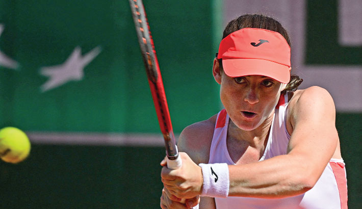 Zidansek becomes first Slovenian woman in Slam quarter-final
