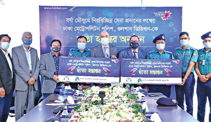 FSIBL donates  150 umbrellas  to DMP