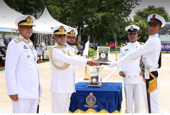 Passing out parade of new entry sailors held in Khulna