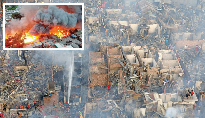 150 shanties gutted by fire at city slum