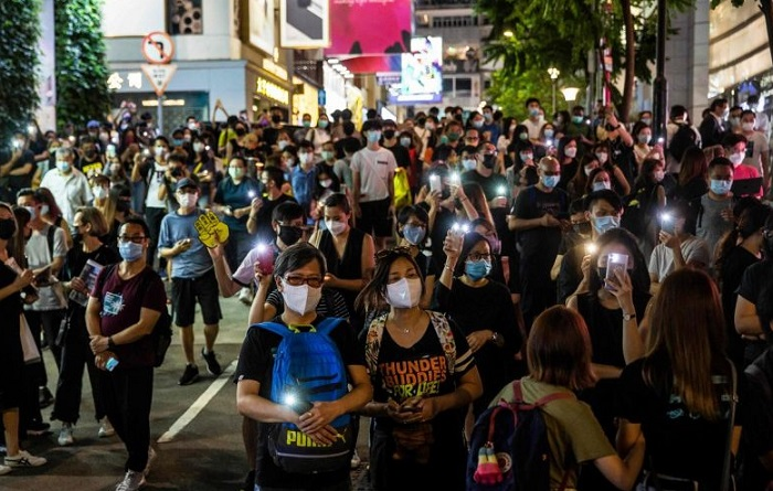 Heavy police presence, arrests, fail to quell defiance in Hong Kong on Tiananmen anniversary