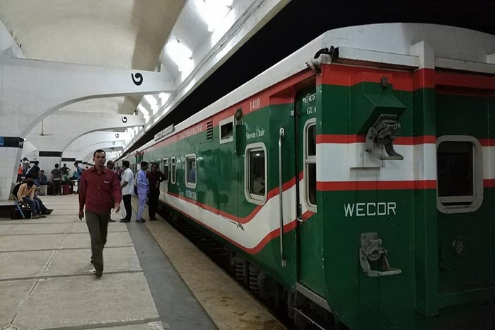 Train tickets are available at counters across country